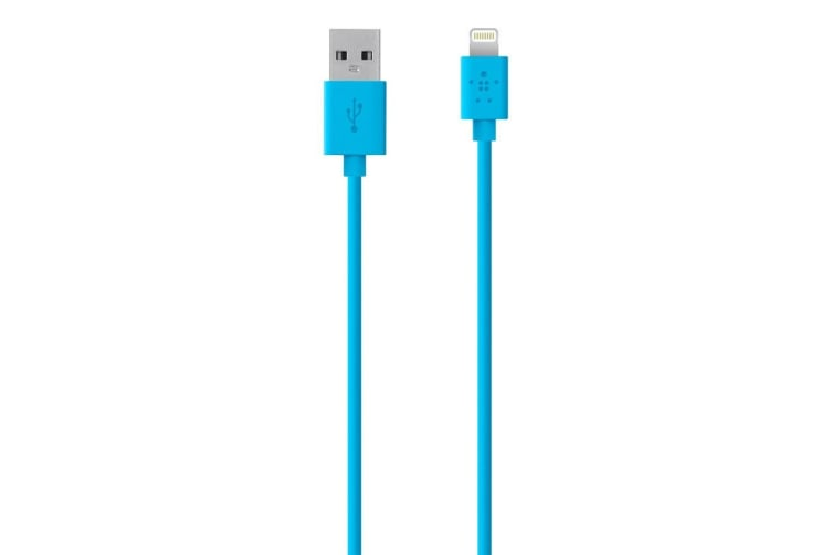 Belkin Lightning to USB Charge/Sync Cable for Apple/iPhone 5 5S 6 7 8 Plus X BLU