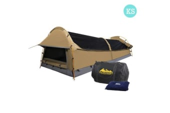King Single Size Canvas Tent (Beige)
