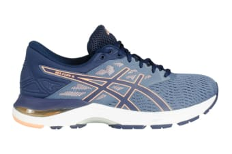 ASICS Women's Gel-Flux 5 Running Shoe (Blue/Canteloupe/Peacoat, Size 6)