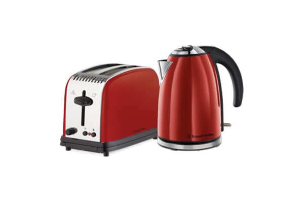 Russell Hobbs Paddington Toaster & Kettle Breakfast Pack - Red (RHBP3)