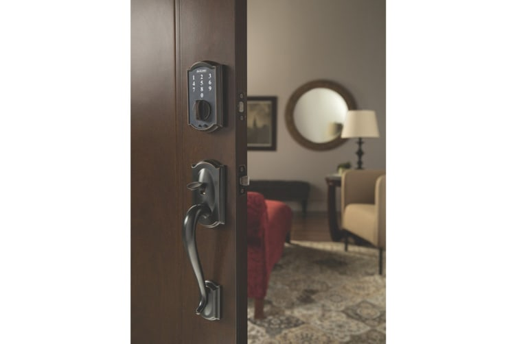 Schlage Touch Keyless Touchscreen Deadbolt with Camelot Trim (Aged Bronze)