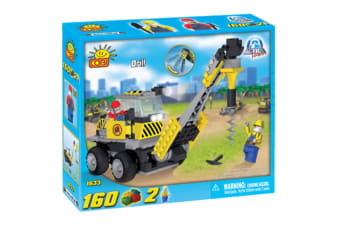 Action Town 160 Piece Construction Drill Construction Set