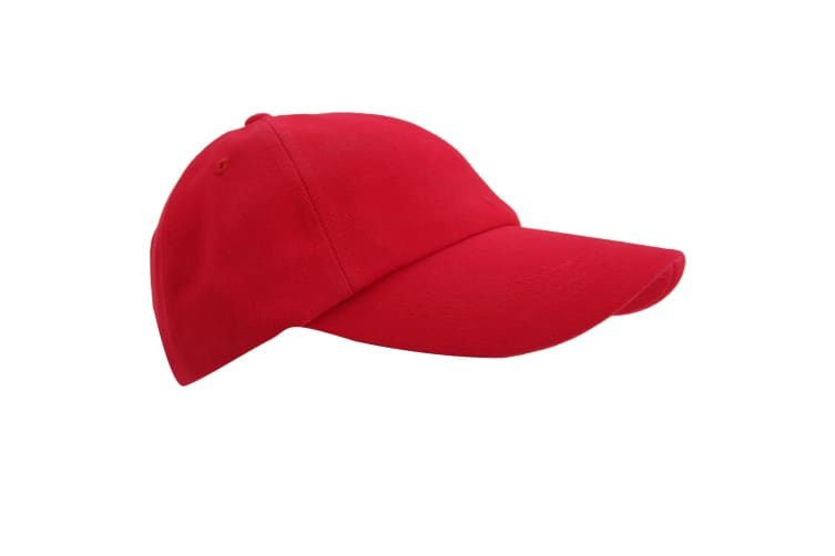 Result Unisex Low Profile Heavy Brushed Cotton Baseball Cap (Pack of 2) (Red) (One Size)