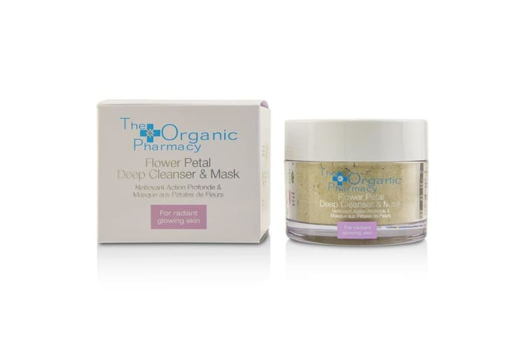 The Organic Pharmacy Flower Petal Deep Cleanser & Mask - For Radiant Glowing Skin 60g