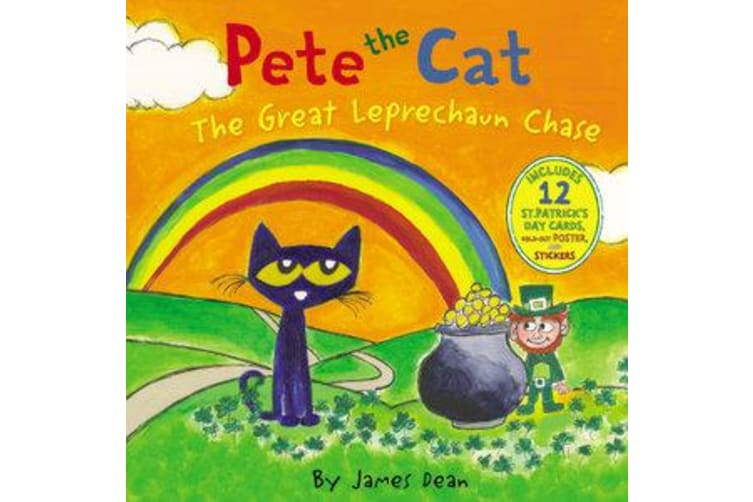 Pete the Cat: The Great Leprechaun Chase - Includes 12 St. Patrick's Day Cards, Fold-Out Poster, and Stickers!