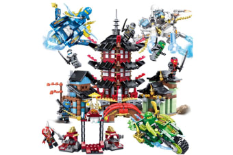 Children'S Assembled Building Blocks Puzzle Toy Building Blocks Temple+Ninja Spacecraft