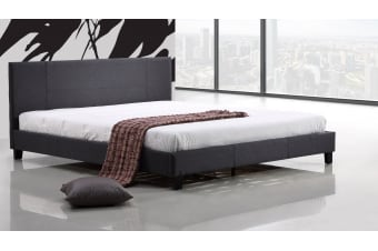 King Linen Fabric Bed Frame Grey