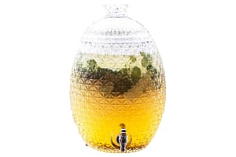 Maxwell & Williams Aloha Pineapple Glass Cold Drink Dispenser 10.3L Party Event