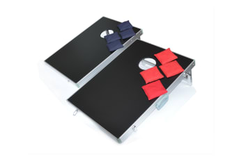 Bean Bag Toss Cornhole Game Set Aluminium Frame Portable Design