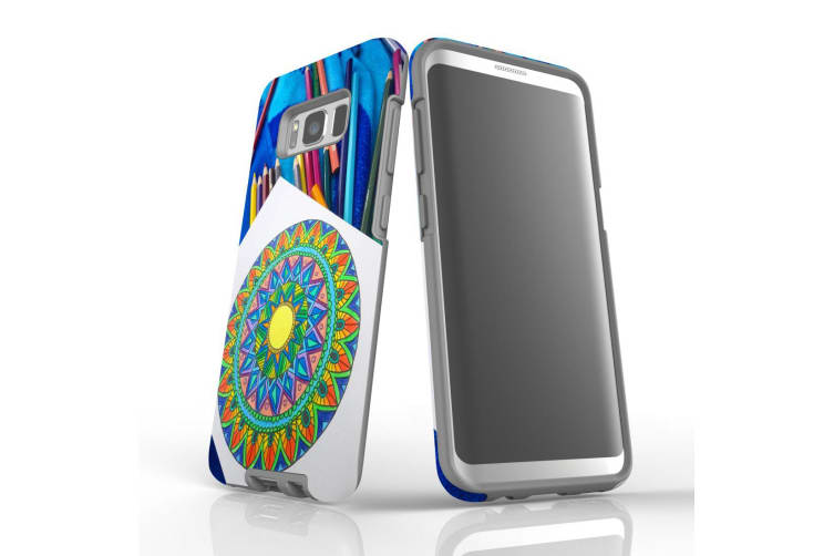 For Samsung Galaxy S8 Case Armour Cover  Pencil Coloring Portrait