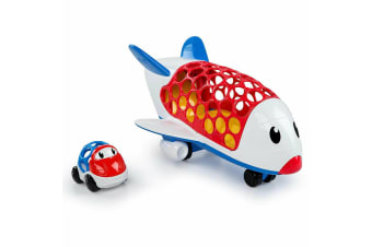 Oball Go Grippers Cargo Plane Jet/Airplane Aircraft Aeroplane Toys w Car Vehicle