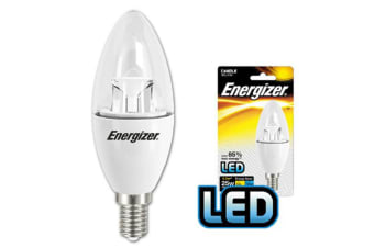 Energizer LED E14 3.5W/250LM Clear Warm White Candle Light Bulb/Lightbulb 25W