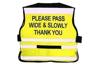 Equisafety Please Pass Wide & Slowly Air Waistcoat (Yellow) (M)