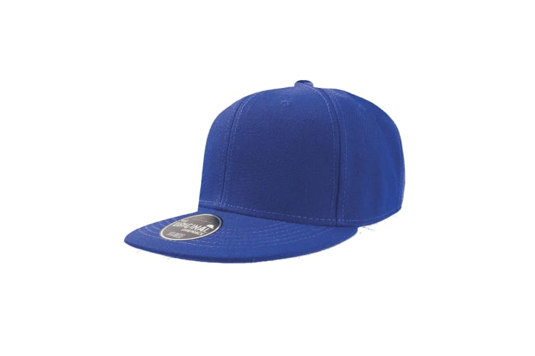 Atlantis Snap Back Flat Visor 6 Panel Cap (Pack of 2) (Royal) (One Size)