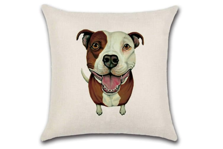 Cute And Adorable Different Dog Breed Printed Throw Pillow Case 9 Pcs