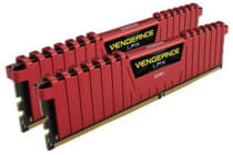 Corsair 16GB (2x8GB) DDR4 3000MHz Vengeance LPX Red