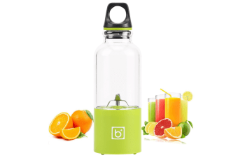 Portable 500ml Fruit Slicer Usb Rechargeable Electric Juicer Cup Blender Water Bottle With Charging - Juicers Easy Manual Clean Best Sellers-GREEN