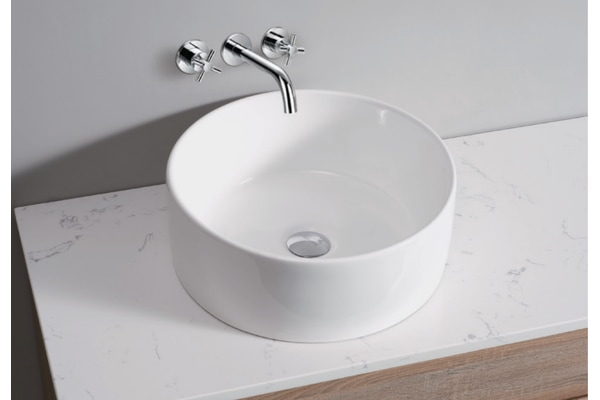 White High Gloss Ceramic Bathroom Sink Basin Above Counter Top (CBR004)