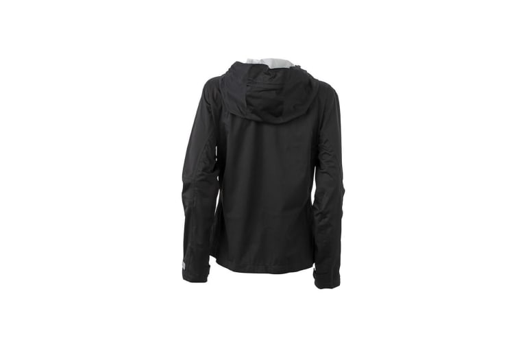 James and Nicholson Womens/Ladies Outdoor Jacket (Black/Silver) (XL)
