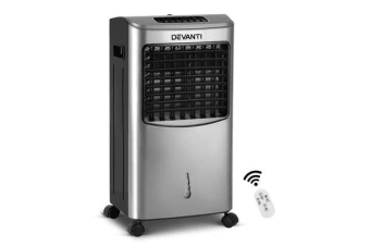 Devanti Portable Evaporative Air Cooler (Silver)