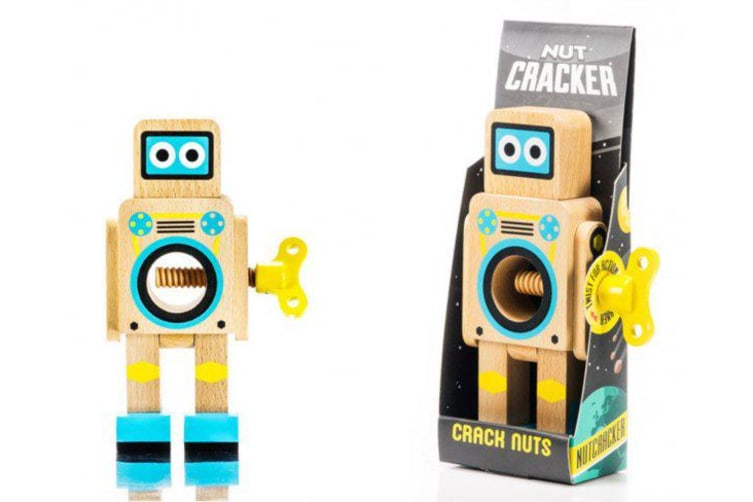 Suck UK Robot Nutcracker Wood