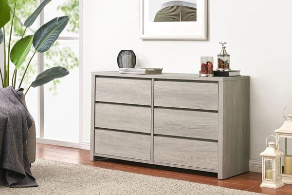 Shangri-La Chest of 6 Drawers - Alta Collection (Dusky Oak)