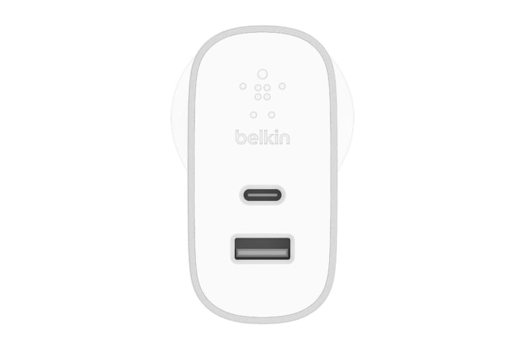 Belkin Boost Charge 27W USB-C with 12W USB-A Home Charger (F7U061AU-SLV)