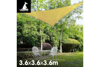 Wallaroo Triangular sail: 3.6 x 3.6 x 3.6m - Sand