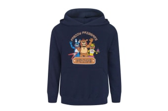 Five Nights At Freddys Childrens Boys Pizza Hoodie (Blue)