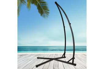 Double Hammock Chair Stand Steel Frame Outdoor Heavy Duty 2 Person