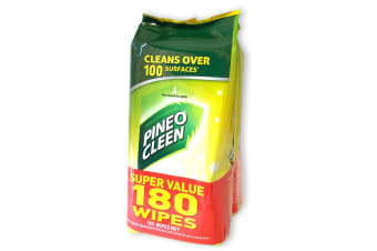 Pine O Cleen 180 Wet Wipe Lemon Lime/Multi Purpose House/Kitchen/Toilet Cleaning