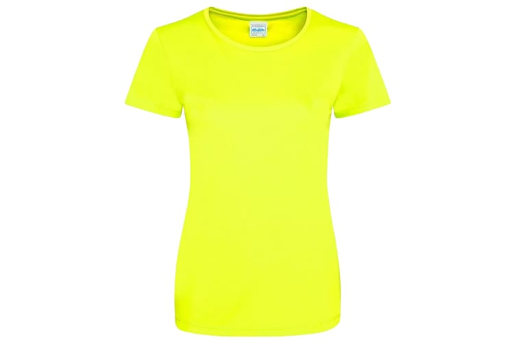 AWDis Just Cool Womens/Ladies Girlie Smooth T-Shirt (Electric Yellow) (XS)