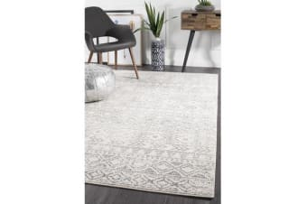 Amelia Grey & Bone Ivory Aztec Durable Rug 230x160cm