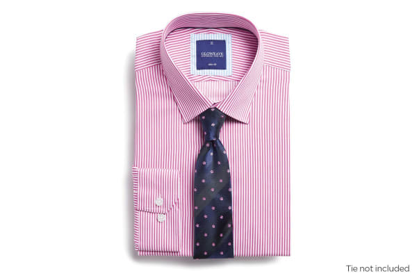 Gloweave Men's Slim Fit Business Shirt - Pink (Size 42)