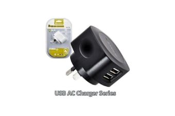 Sansai 2 USB outlet AC charger 5V 2.1A output max new