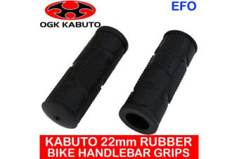 Kabuto 22Mm Rubber Handlebar Grips Mountain Bike Sml Shifters Black Pair Ag-051K