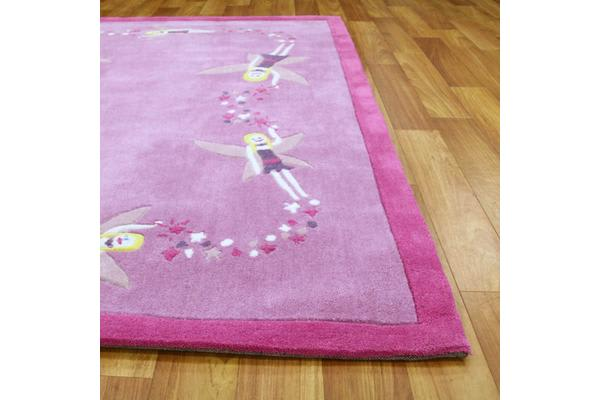 Gorgeous Girls Pink Fairy Rug 220x150cm