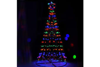 Jingle Jollys 7FT Solar LED Christmas Tree Multi Colour