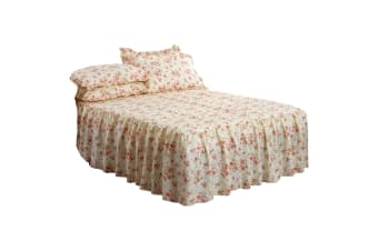 Emma Barclay Luxury Quilted Floral Beverly Bedspread With Pillowshams Bedding Set (Pink)