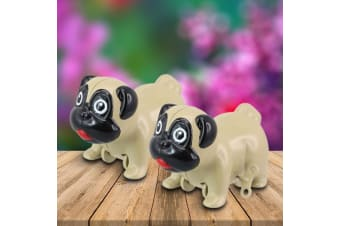 Wind-Up Racing Pugs – Toy Dogs Run Pug Puppy