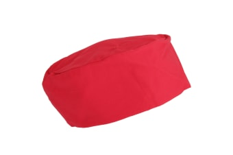 Dennys Unisex Elasticated Chef Skull Cap/Hat (Red)