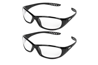 2PK Jackson Safety Glasses V40 Hellraiser Lens Clear UVA/UVB/UVC Protection