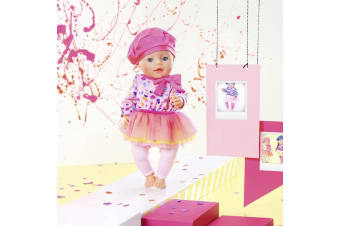 Baby Born Fashion Collection - Pink Dress with Leggings Set