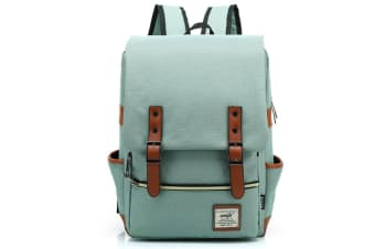 Slim Business Laptop Backpack Elegant Casual Daypacks Shoulder Bag Green