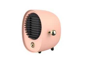 Select Mall Creative Portable Hug Heater Mini Desktop Silent Hot Air Fan Dormitory Energy-saving Electric Heater-Pink