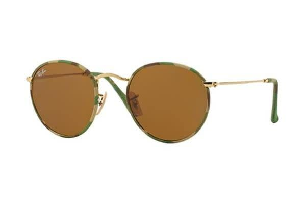 Ray Ban RB3447JM - Military Green Gold (Brown lens) Unisex Sunglasses