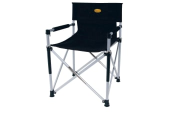 Camp 4 Toscana Luxus Directors Folding Camping Chair (Black) (One Size)