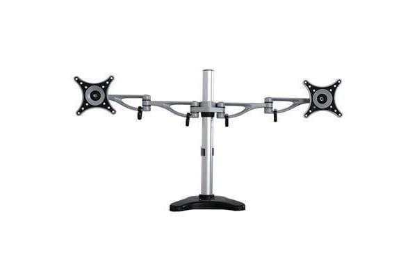 "Loctek DLB203 10""-27"" Desk Mount Office Home Use Dual Double LCD Monitor Arm Vesa 50x50mm 75x75mm"