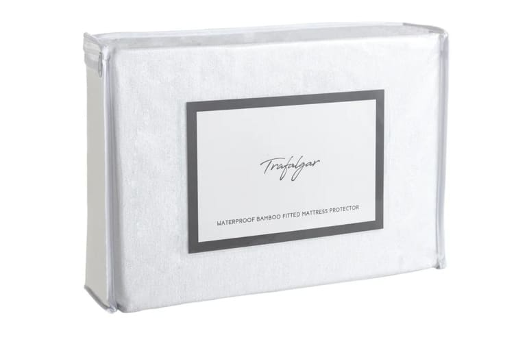 Trafalgar Waterproof Bamboo Fitted Mattress Protector (Double)