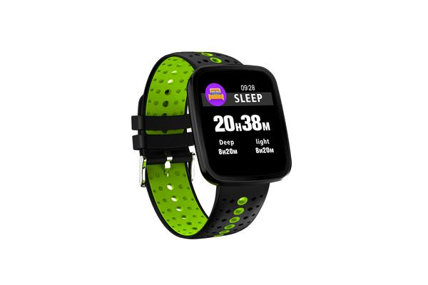 TODO Bluetooth V4.0 Smart Watch 0.96 Oled Heart Rate Blood Pressure Ip67 Green